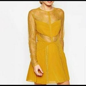 ASOS yellow lace dress
